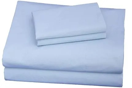300 Thread Count Cotton Sheet Set Size: Twin XL, Color: Light Blue