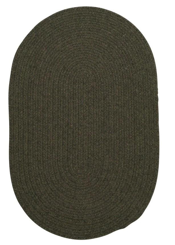 Navarrette Olive Area Rug Rug Size: Round 8'