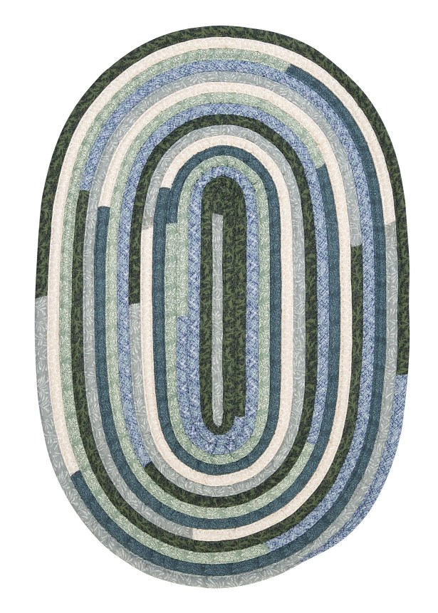 Chapelle Blue Area Rug Rug Size: Oval 8' x 11'
