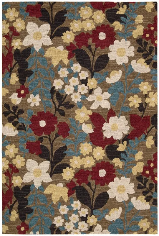 Huetter Hand-Tufted Wool Brown Area Rug Rug Size: Rectangle 3'6
