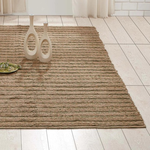Milton Hand-Woven Natural Area Rug Rug Size: 5' x 8'