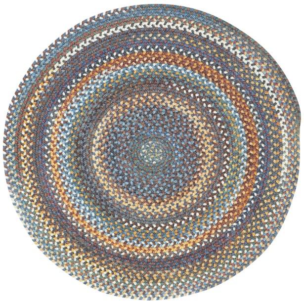 Phoebe Medium Blue Variegated Rug Rug Size: Round 9'6
