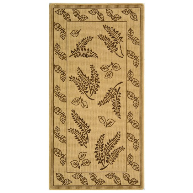 Laurel Natural/Brown Outdoor Rug Rug Size: Rectangle 6'7