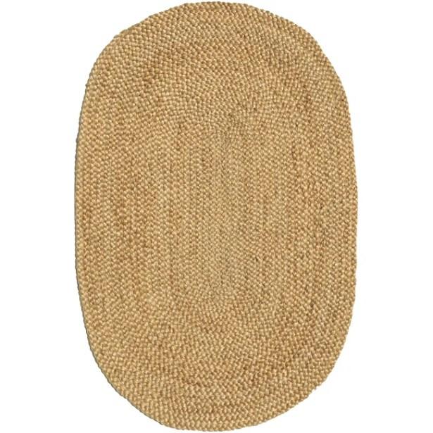 Ephemerine Natural Hand-Woven Gold Area Rug Rug Size: Oval 4'6