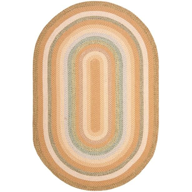Georgina Tan/Multi Area Rug Rug Size: Oval 9' x 12'