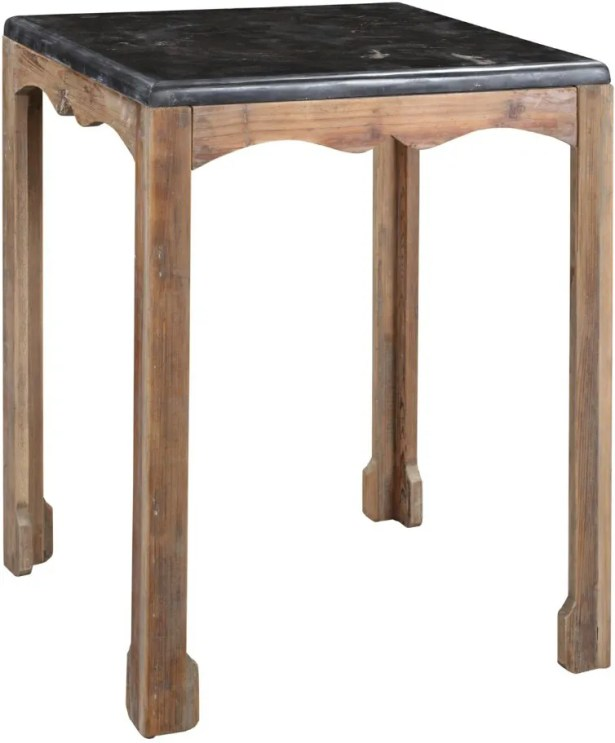 Dayne Side Table in Gray Wash Color: Natural Wax
