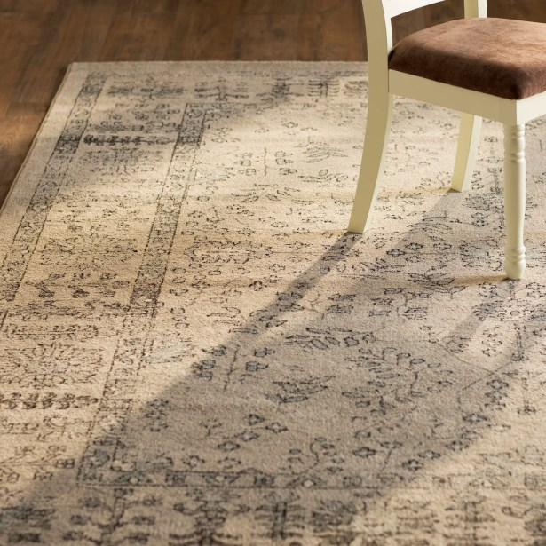Harwick Beige and Blue Area Rug Rug Size: Rectangle 4' x 6'