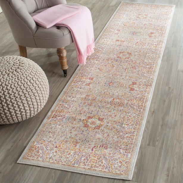 Shady Dale Silver/Ivory Area Rug Rug Size: Runner 2'1