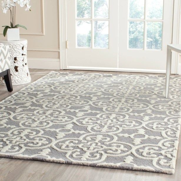 Nicholls Gray Hand-Woven Wool Area Rug Rug Size: Rectangle 11' x 15'