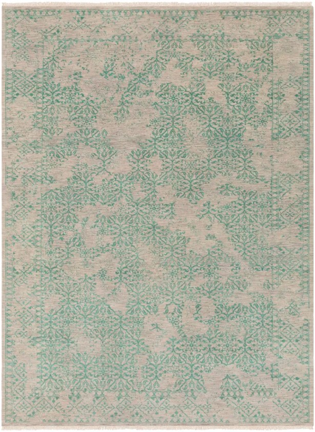 Lazzaro Hand-Knotted Green/Gray Area Rug Rug Size: Rectangle 8'6