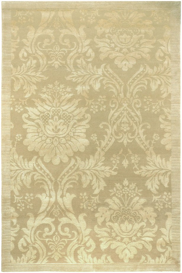 Osteen Hand-Knotted Gold Area Rug Rug Size: Rectangle 8' x 10'
