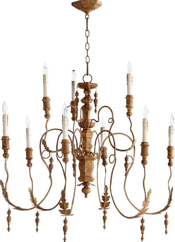 Paladino 9-Light Chandelier Finish: French Umber
