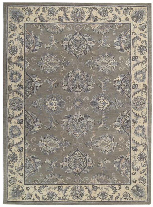 Poulos Hand-Tufted Gray/Beige Area Rug Rug Size: Rectangle 5'6