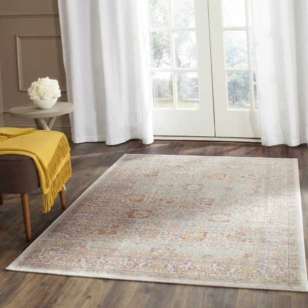 Shady Dale Silver/Ivory Area Rug Rug Size: Rectangle 5'3