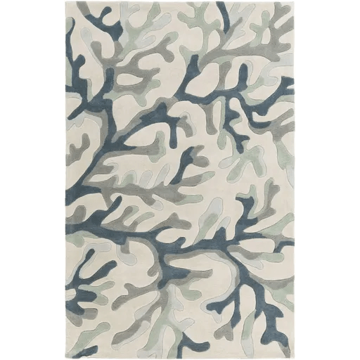 Cherrywood Hand Tufted Light Gray/Teal Area Rug Rug Size: Rectangle 5' x 8'