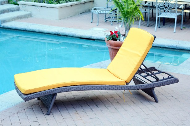 Valery Chaise Lounge with Cushion Finish: Espresso, Cushion Color: Mustard