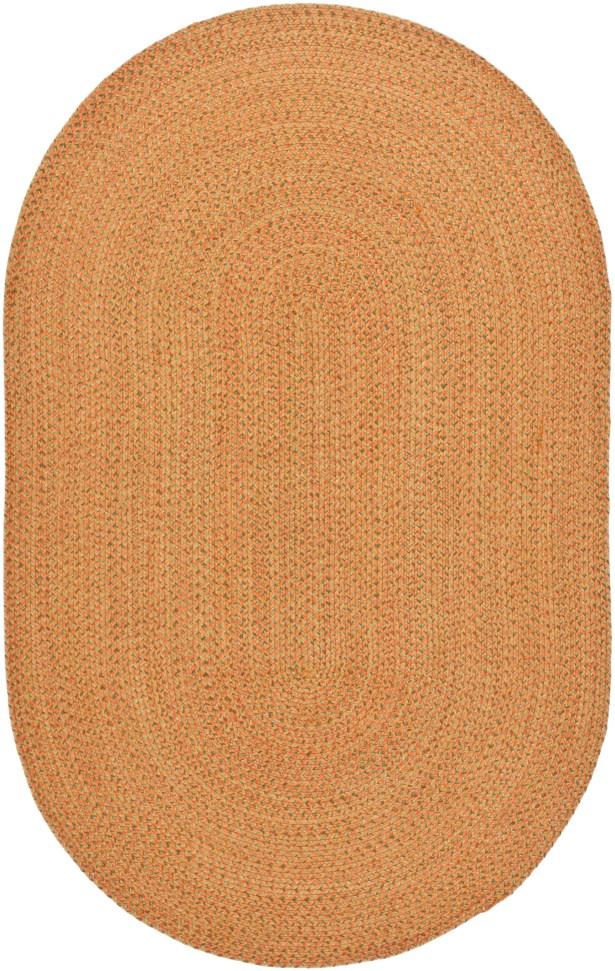 Woodlawn Hand Woven Beige/Orange Area Rug Rug Size: Oval 8' x 10'