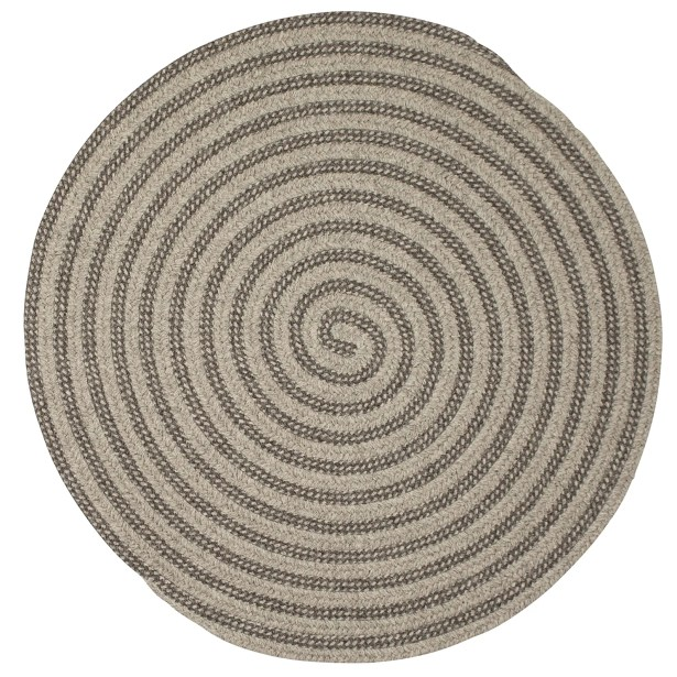 Cadenville Hand-Woven Gray Area Rug Rug Size: Round 5'