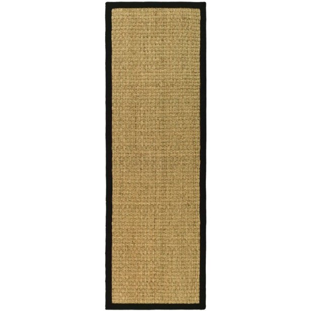 Richmond Natural / Black Area Rug Rug Size: Runner 2'6