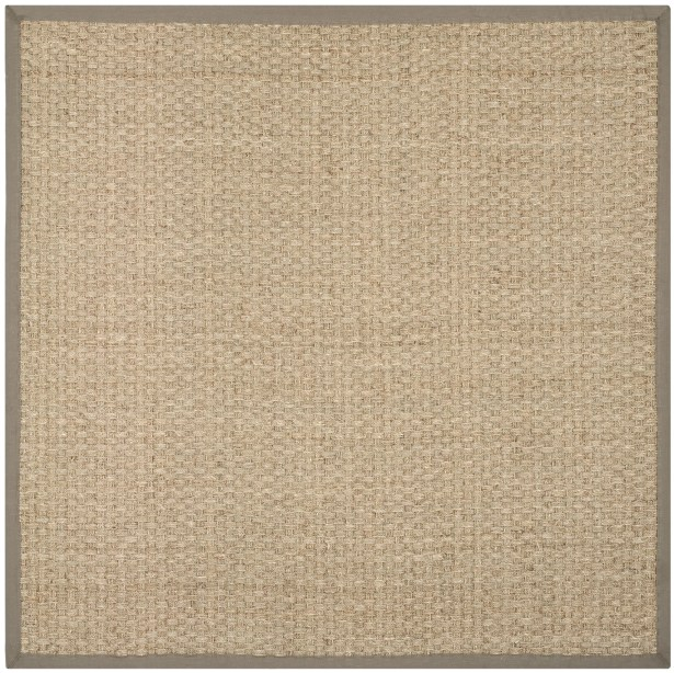 Richmond Natural/Brown Area Rug Rug Size: Square 9'