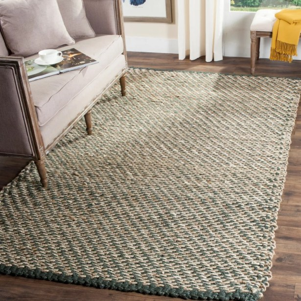 Richmond Hand-Woven Blue/Natural Indoor Area Rug Rug Size: Runner 2'6