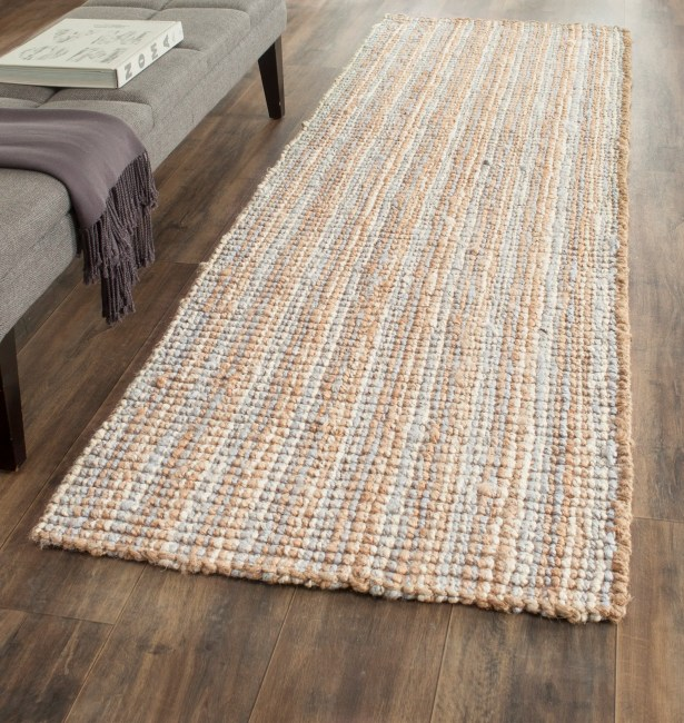 Richmond Hand-Woven Gray/Natural Area Rug Rug Size: Runner 2'6