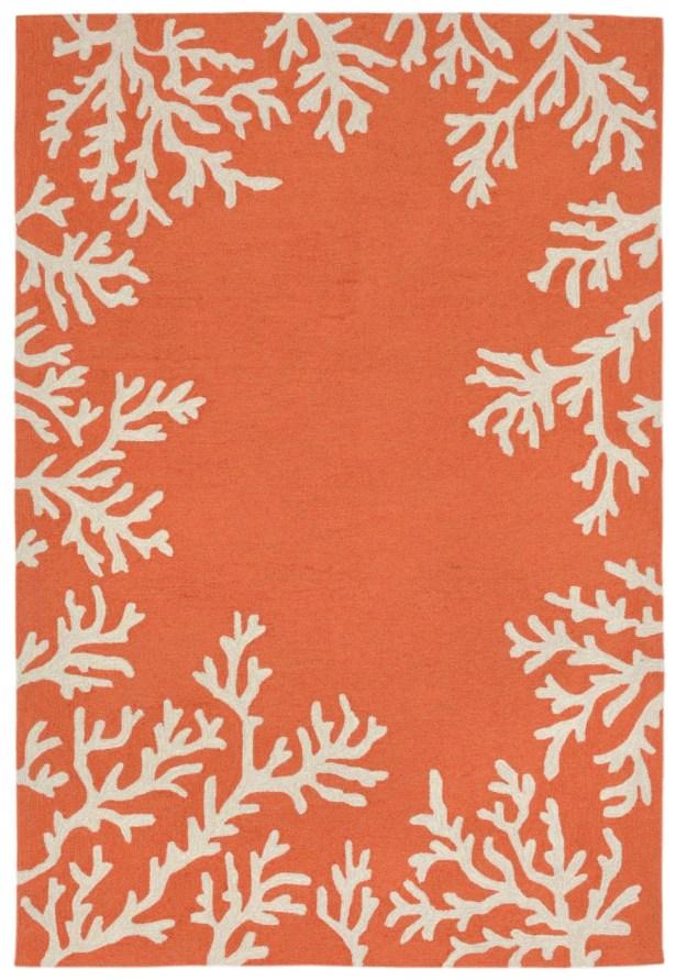 Claycomb Hand-Tufted Orange Indoor/Outdoor Area Rug Rug Size: Rectangle 7'6
