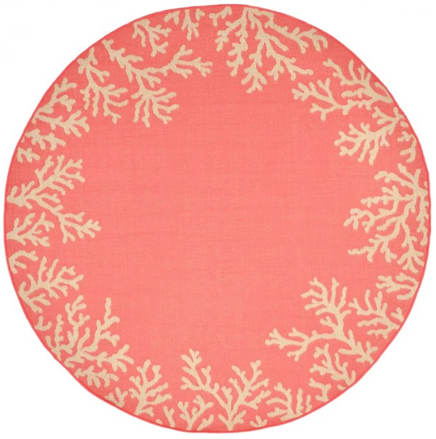 Claycomb Hand-Tufted Orange Indoor/Outdoor Area Rug Rug Size: Round 8'