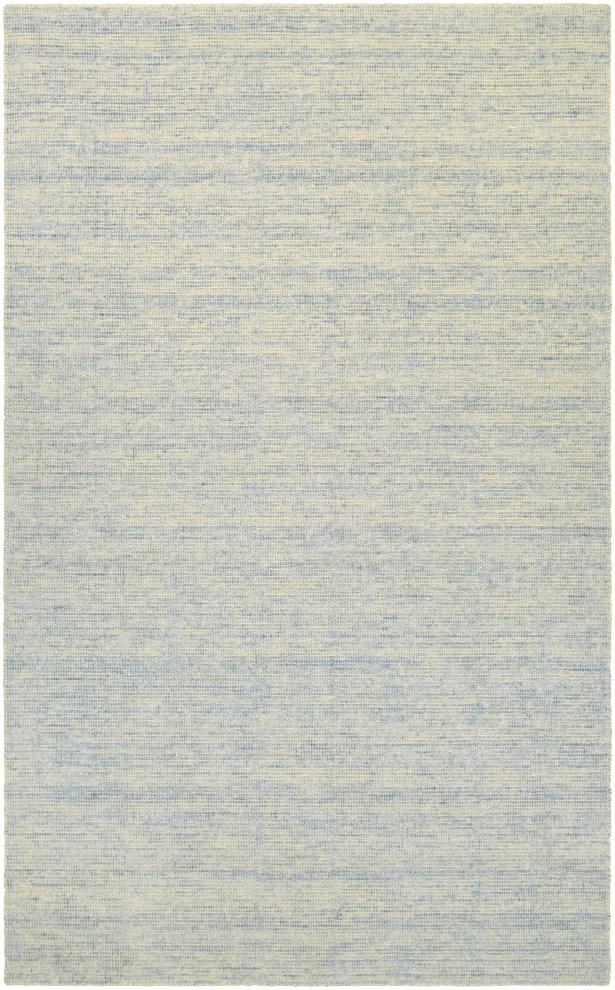 Afton Hand-Loomed Light Blue/Beige Area Rug Rug Size: Rectangle 9'6