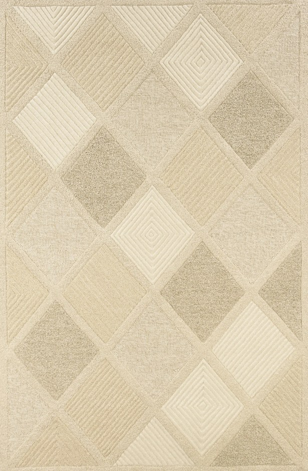 Argyle Hand Woven Wool Beige Area Rug Rug Size: Rectangle 5'6