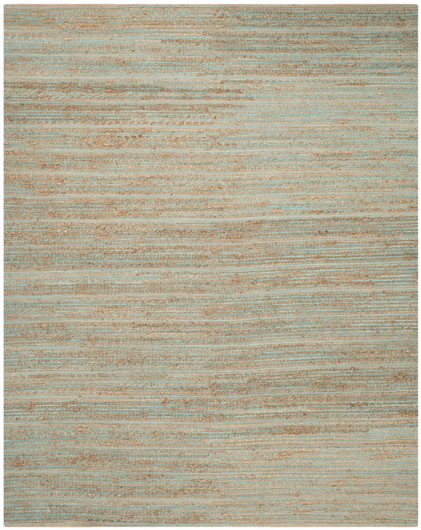 Marshville Hand-Woven Aqua/Beige Area Rug Rug Size: Rectangle 8' x 10'