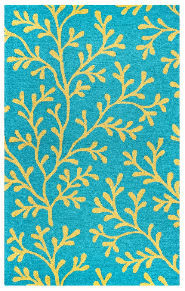 Maryland Hand-Tufted Teal Indoor/Outdoor Area Rug Size: Rectangle 7'6