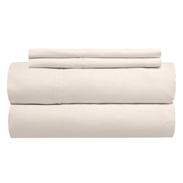 Sint 310 Thread Count 100% Soft Cotton Sheet Set Color: Shell, Size: King