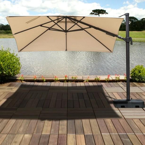 Aquia Creek 10' X 10' Square Cantilever Umbrella Color: Tan