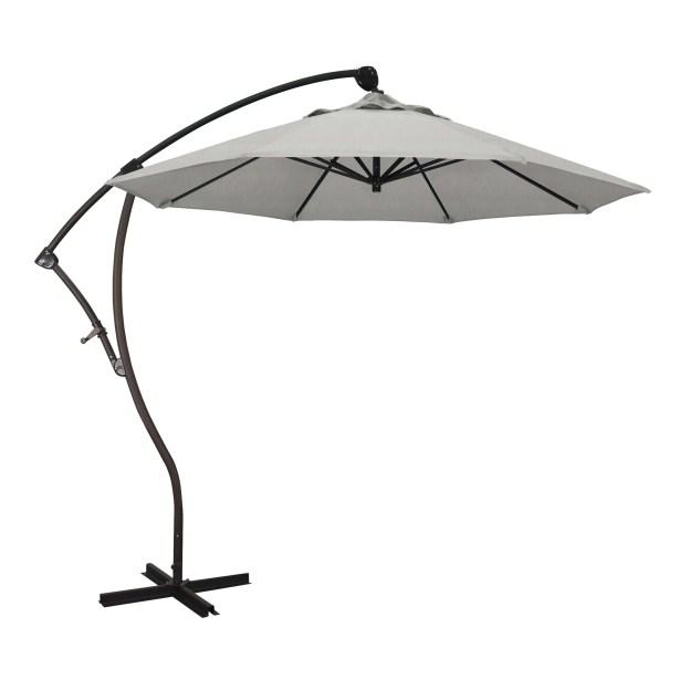 April 9' Cantilever Umbrella Fabric Color: Sunbrella - Granite