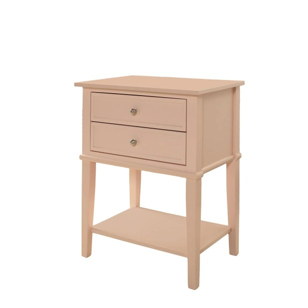 Dmitry End Table With Storage Color: Pink