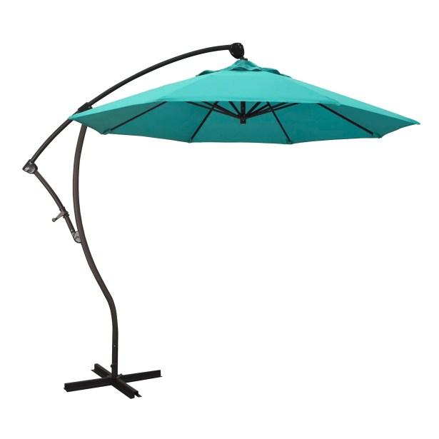April 9' Cantilever Umbrella Fabric Color: Sunbrella A Aruba