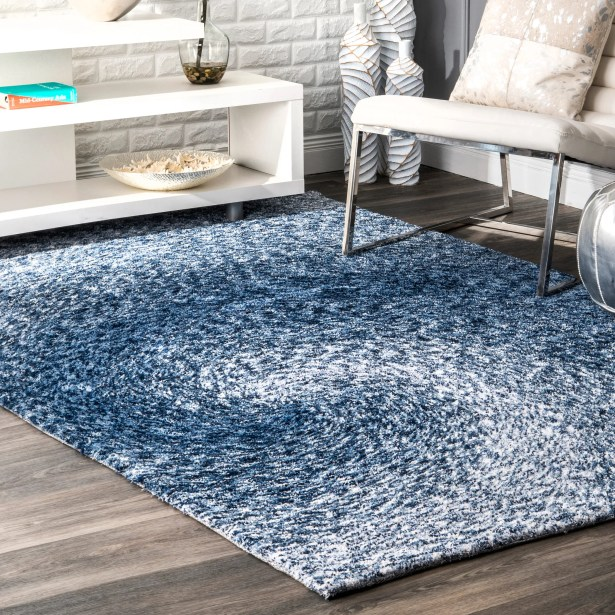 Salina Hand-Tufted Blue Area Rug Rug Size: Rectangle 5' x 8'