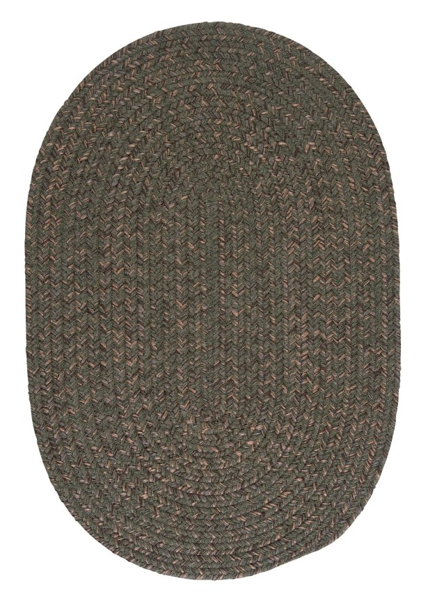 Abey Oliver Green Area Rug Rug Size: Oval 4' x 6'