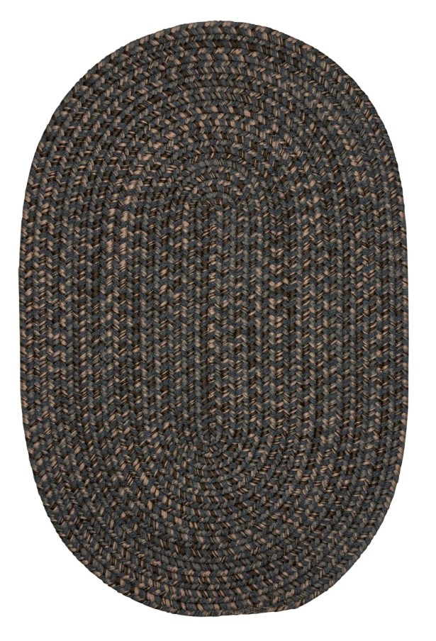 Abey Charcoal Area Rug Rug Size: Round 6'