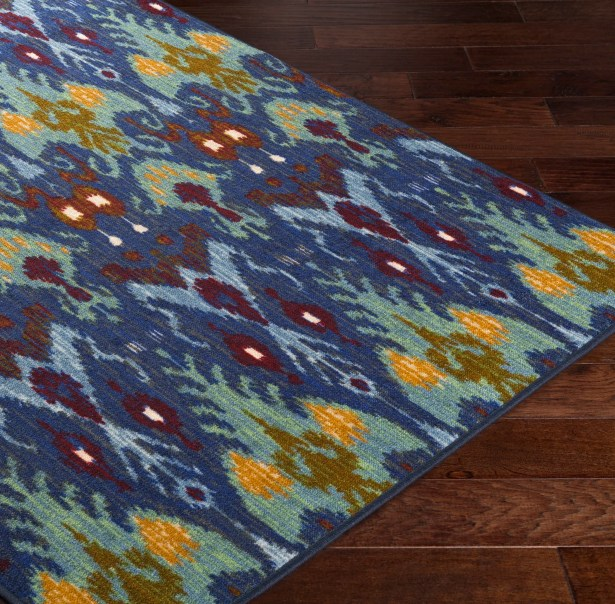 Coso Blue/Yellow Area Rug Rug Size: Rectangle 5' x 8'