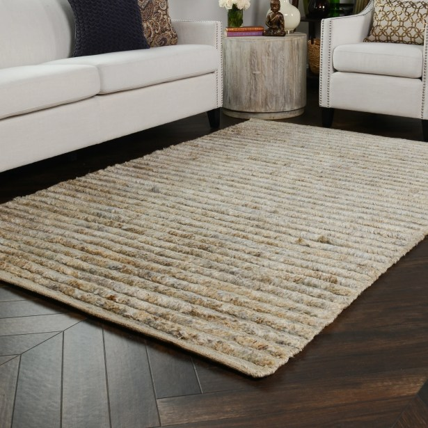 Marion Hand-Woven Natural Area Rug Rug Size: 9' x 12'