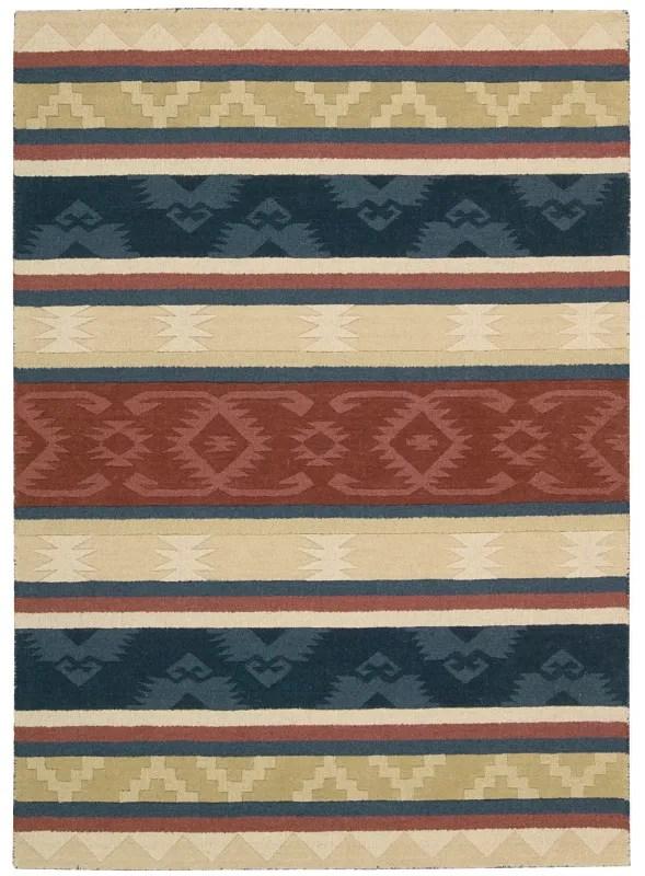 Atna Red/Blue Area Rug Rug Size: Rectangle 8' x 10'6
