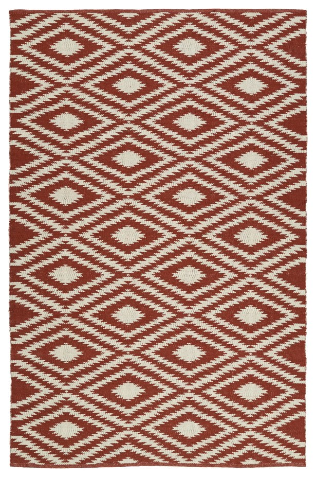 Greenfield Brick/Cream Indoor/Outdoor Area Rug Rug Size: Runner 2' x 6'
