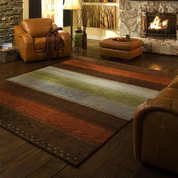 Havsa Desert Gabbeh Hand-Knotted Brown/Orange/Gold Area Rug Rug Size: Rectangle 2' x 3'