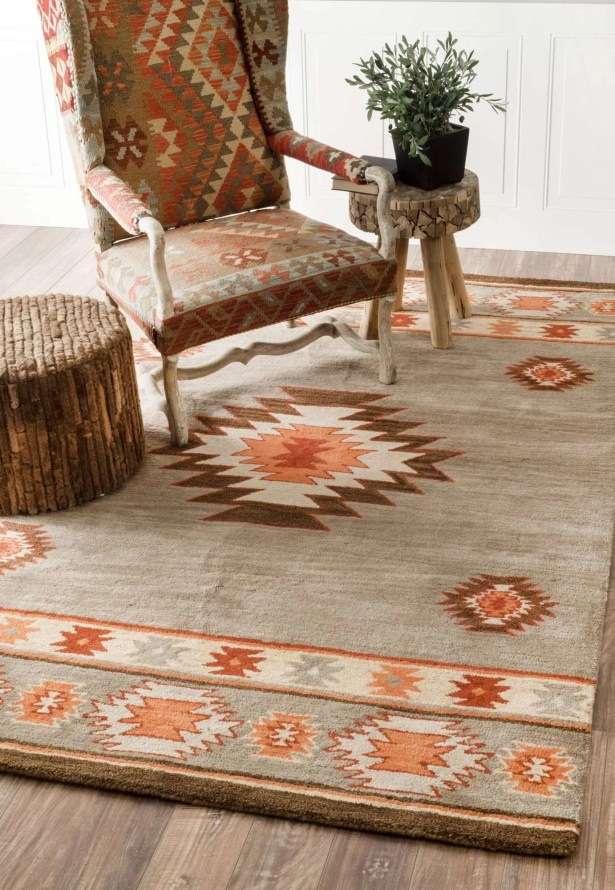 Claghorn Hand-Tufted Gray Area Rug Rug Size: Rectangle 7'6