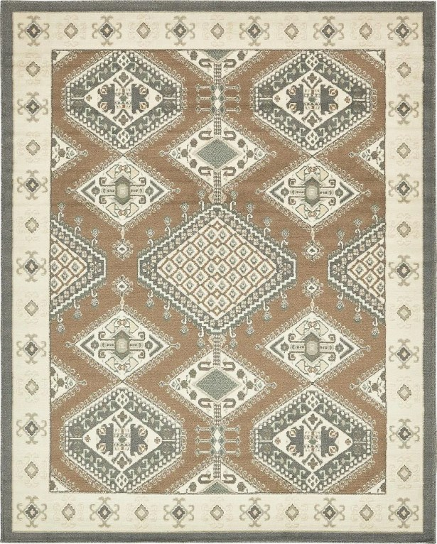 Giovanni Brown Area Rug Rug Size: Round 8'