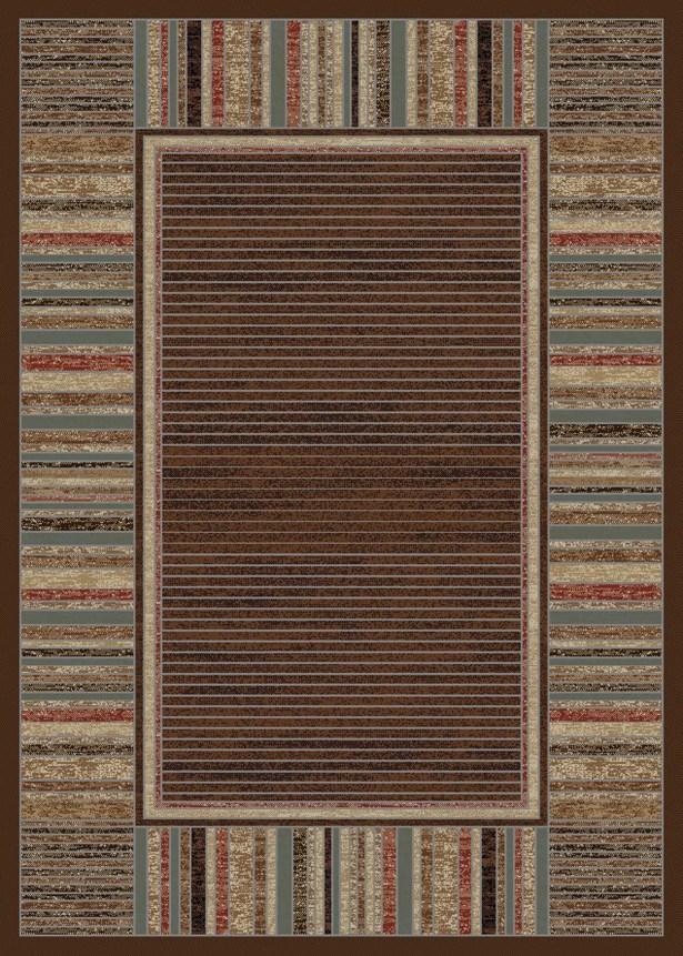Caroll Strata Mocha Area Rug Rug Size: 8' x 10'