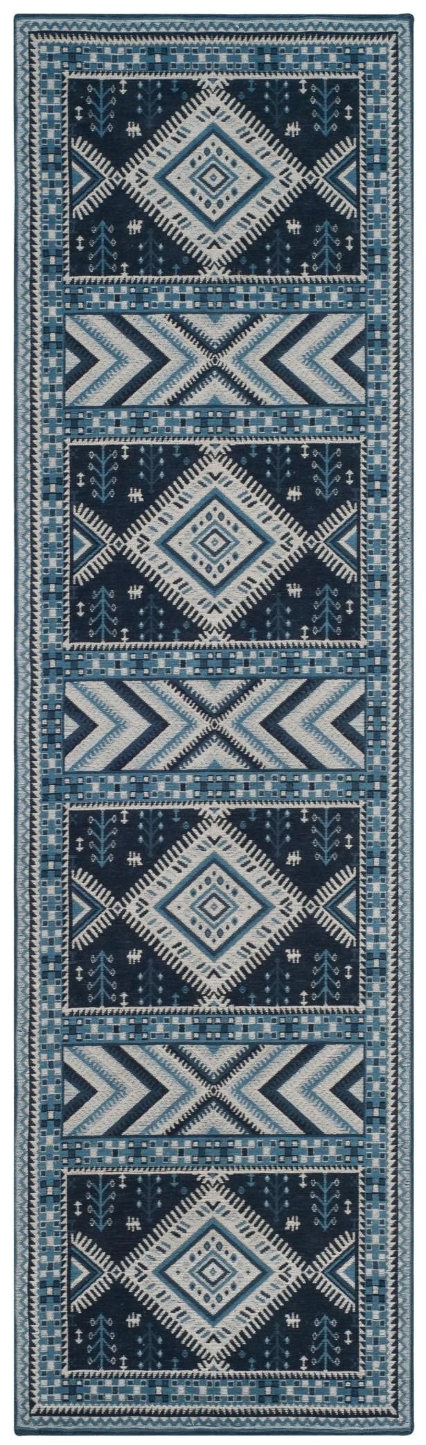 Antelope Blue Area Rug Rug Size: Runner 2'3
