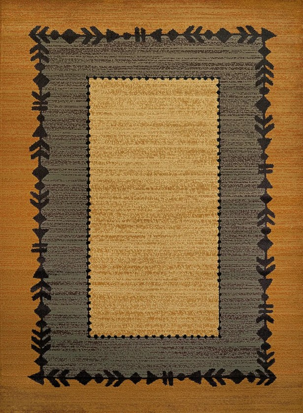 Sayre Gray/Gold Area Rug Rug Size: Rectangle 5'3